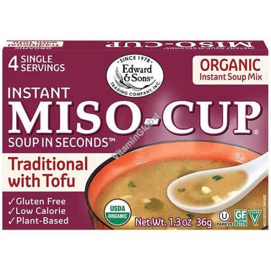 Organic Instant Miso Soup 4 single servings - Edward & Sons