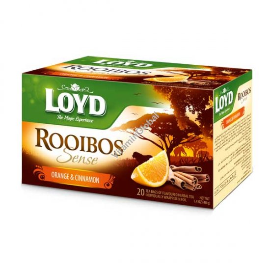 Rooibos Sense Orange & Cinnamon 20 tea bags - Loyd