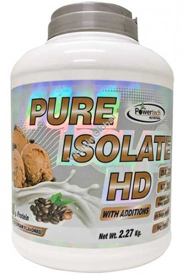 Kosher Pure Isolate HD Protein Coffee Ice Cream 2.27kg (5 LB.) - PowerTech Nutrition