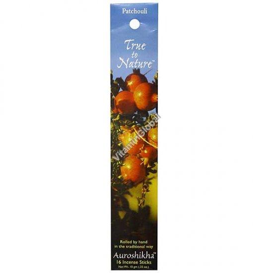 Patchouli Natural Incense Sticks 10g (16 Sticks) - Auroshikha