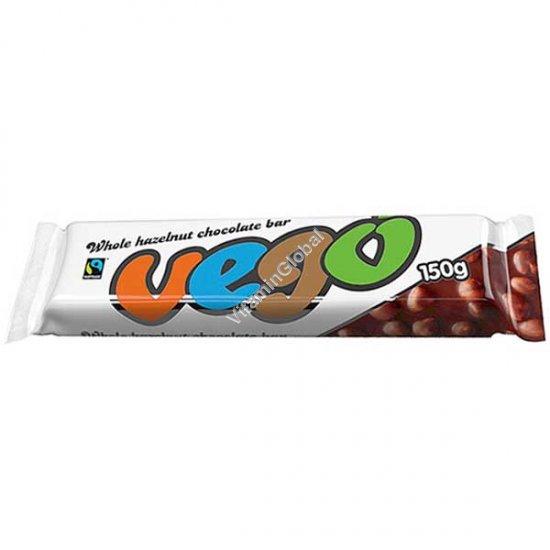 Gluten Free Whole Hazelnut Chocolate Bar 150g - Vego