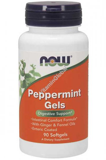 Peppermint Gels 90 softgels - NOW Foods