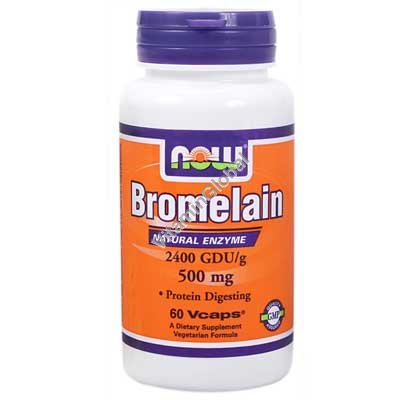 Bromelain 500 mg 60 Veg Caps - Now Foods