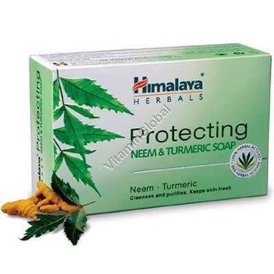 Protecting Neem and Turmeric Soap for all skin types 70g - Himalaya Herbals