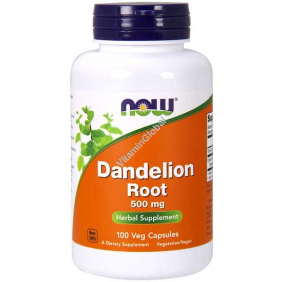 Dandelion Root 500mg 100 capsules - Now Foods