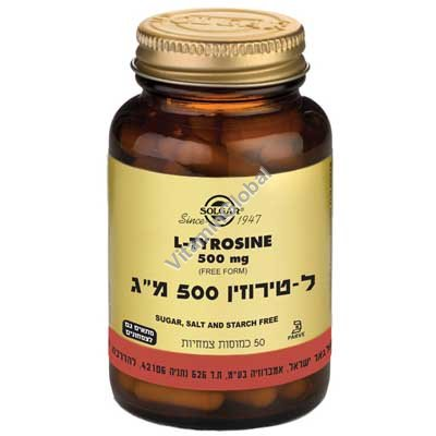 L-Tyrosine 500mg 50 Vcaps - Solgar