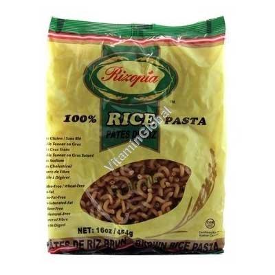 Brown Rice Noodles Spirals 454g - Rizopia