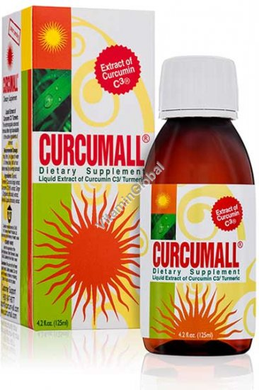 Curcumall - Liquid Extract of Curcumin C3 / Turmeric 125 ml