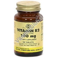 Vitamin B2 100mg 100 Vcaps - Solgar