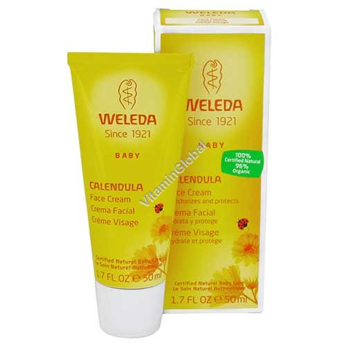 Baby Calendula Face Cream 50ml - Weleda