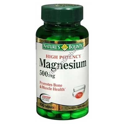 High Potency Magnesium 500 mg 100 tablets - Nature\'s Bounty