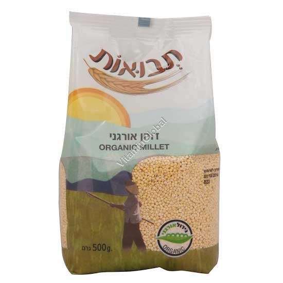 Organic Hulled Millet 500g - Tvuot