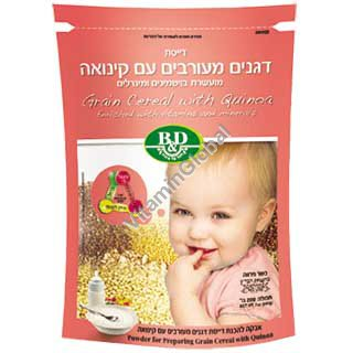 Grain Cereal with Quinoa for Babies Enriched with Vitamins and Minerals 200g (7 oz) - Better & Different