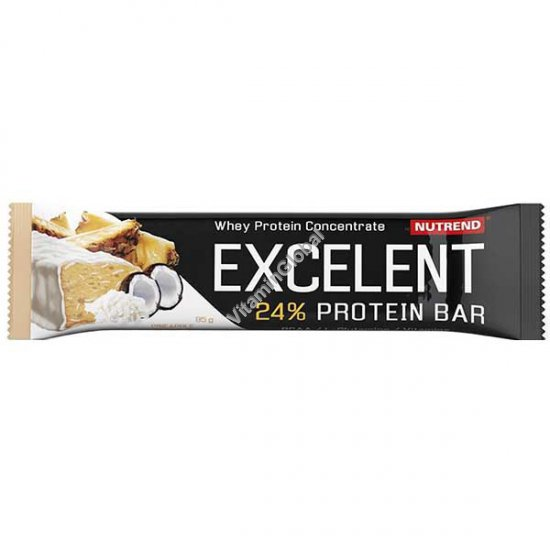Excelent Protein Bar Pineapple Flavour and Coconut with Yogurt Coating 85g - Nutrend