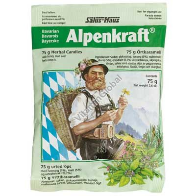 Alpenkraft Relieving & Preventing Sore Throat Herbal Candies 75g - Salus