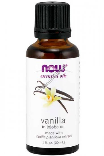 Vanilla in Jojoba Oil 1 fl oz (30 ml) - Now Essential Oils