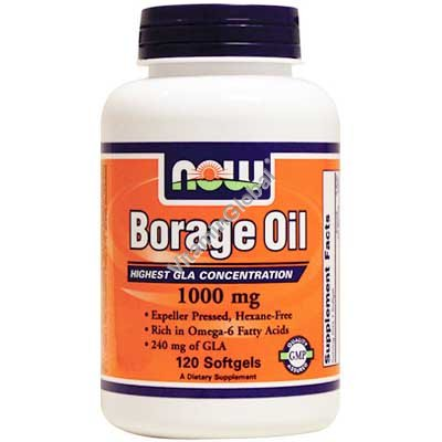 Borage Oil 1000 mg 60 Softgels - Now Foods