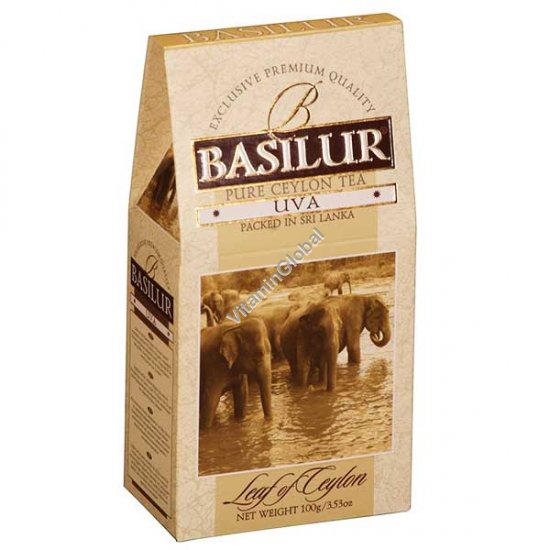 Premium Pure Ceylon Black Tea UVA 100g (3.5 oz) - Basilur
