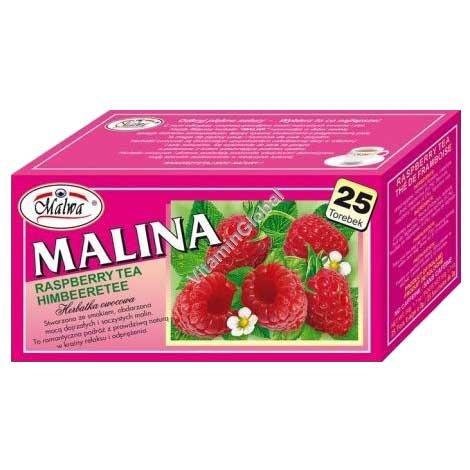 Raspberry Caffeine Free Tea 25 Tea Bags - Malwa