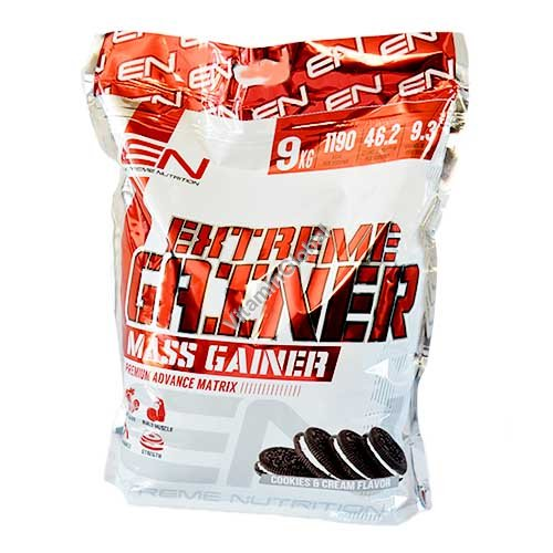 Kosher Extreme Gainer Cookies & Cream Flavor 9.0 kg (20 LB) - Extreme Nutrition