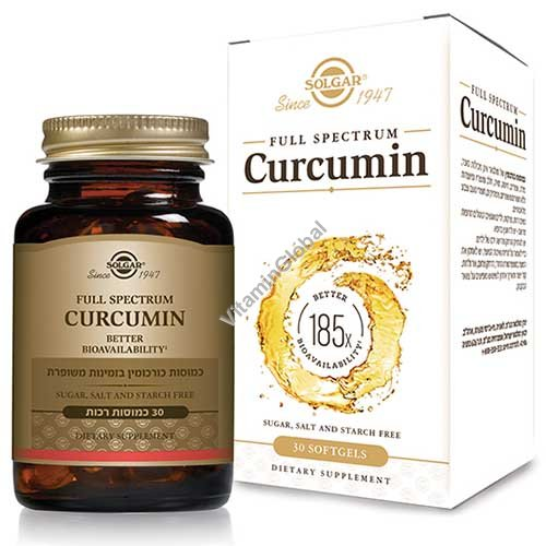 Full Spectrum Curcumin 30 softgels - Solgar