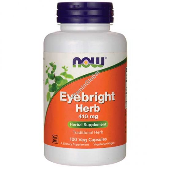 Eyebright 410mg 100 Veg Capsules - Now Foods
