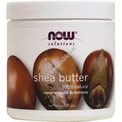 Natural Shea Butter 207ml - NOW Foods