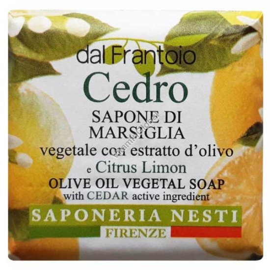 Vegetal Soap Enriched with Olive Oil and Citrus Extract 100g - Nesti Dante
