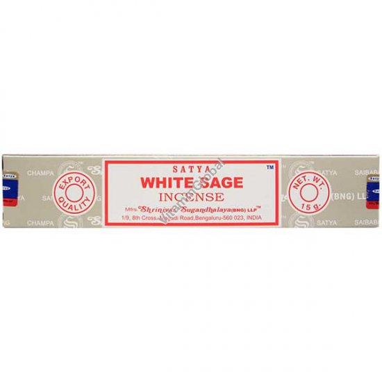 White Sage Hand-Rolled Incense Sticks 15g - Satya