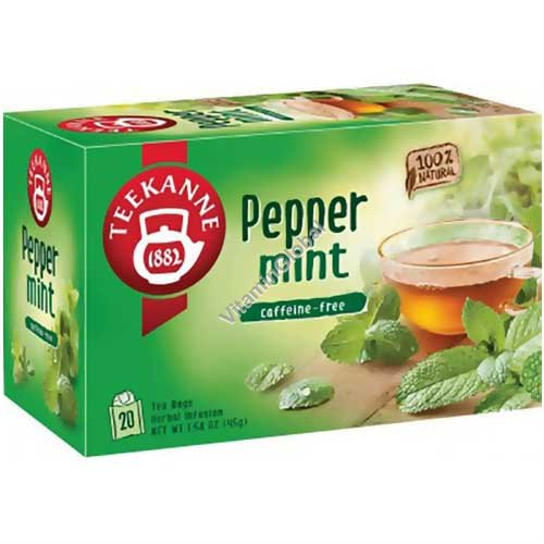 Peppermint Herbal Infusion 20 tea bags - Pompadour