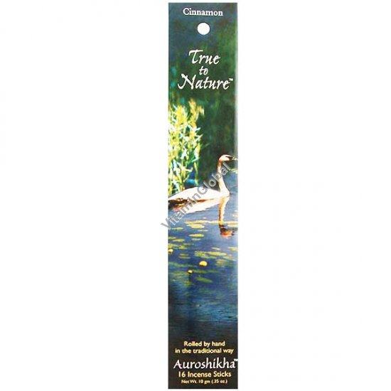 Cinnamon Natural Incense 16 Sticks - Auroshikha