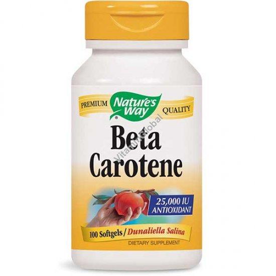 Beta Carotene 25000 IU 100 softgels - Nature\'s Way