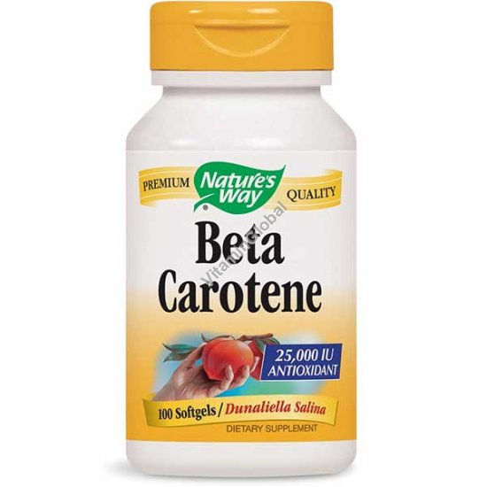 Beta Carotene 25000 IU 100 softgels - Nature\'s Way