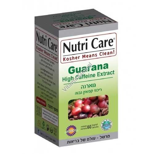 Kosher Guarana 455 mg 60 Vcaps - Nutri Care