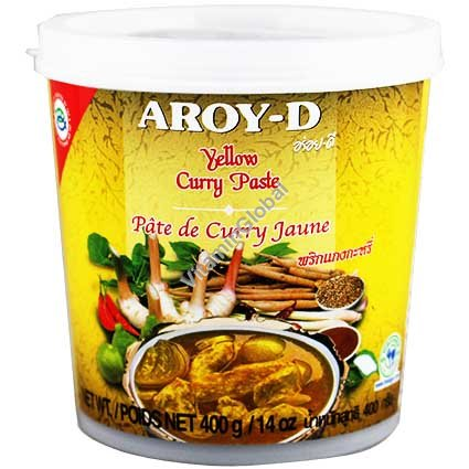 Yellow Curry Paste 400g - Aroy-D