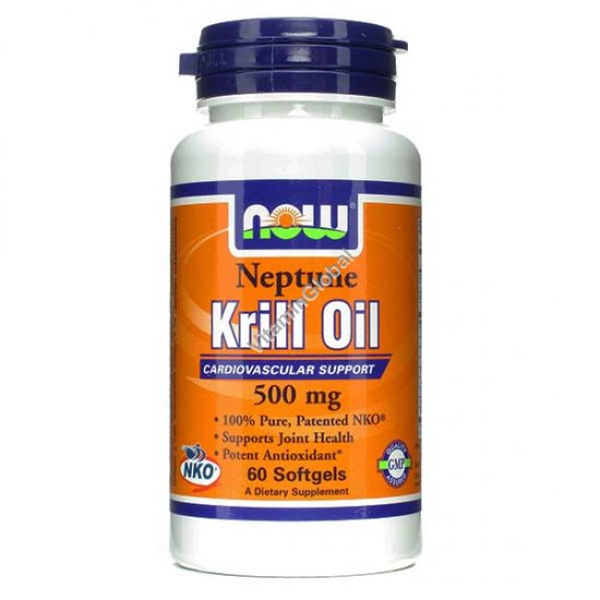 Neptune Krill Oil 500 mg 60 Softgels - Now Foods