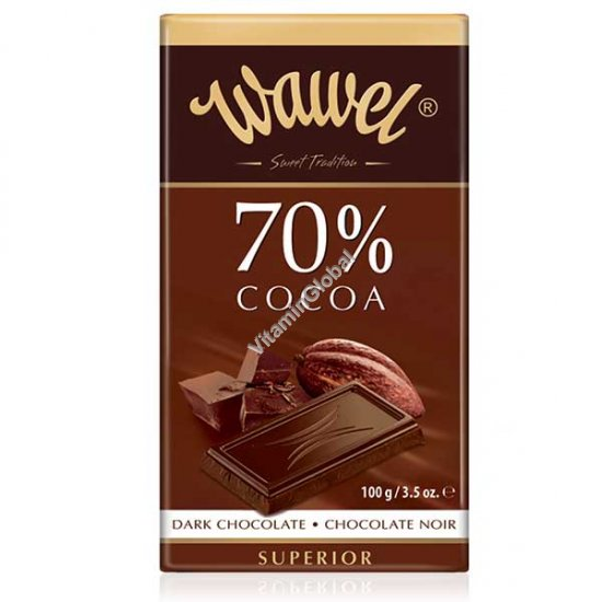 Superior Dark Chocolate 70% cocoa 100g (3.5 oz.) - Wawel