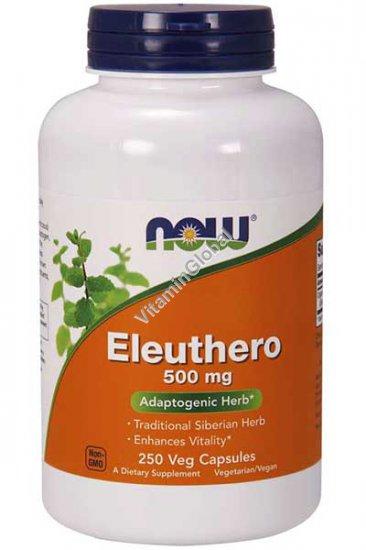 Eleuthero 500 mg 250 Veg Capsules - NOW Foods