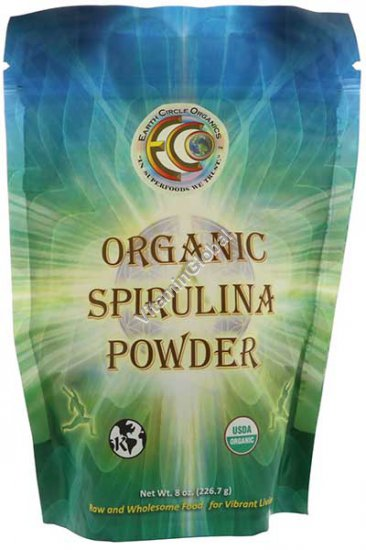 Raw Organic Spirulina Powder 8oz (226g) - Earth Circle Organics