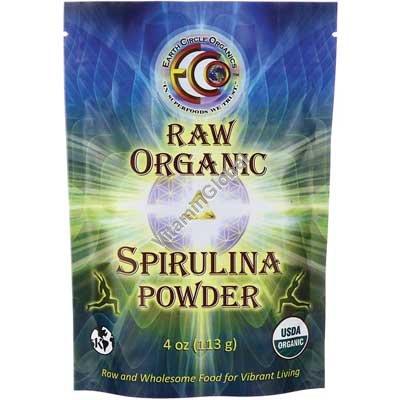 Raw Organic Spirulina Powder 4oz (113g) - Earth Circle Organics