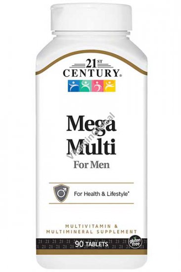Multivitamin Mega Multi for men 90 tablets - 21st Century