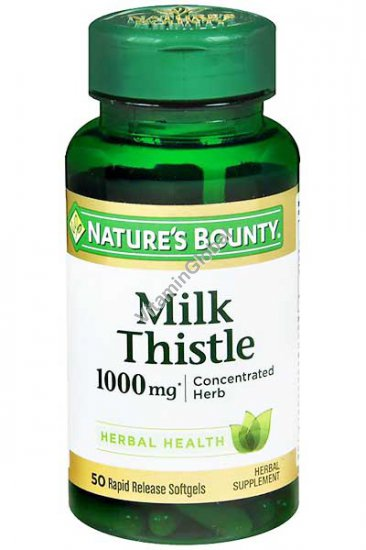Milk Thistle Herb Extract 50 softgels - Nature\'s Bounty