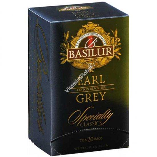 Pure Ceylon Black Tea Earl Grey 20 tea bags - Basilur