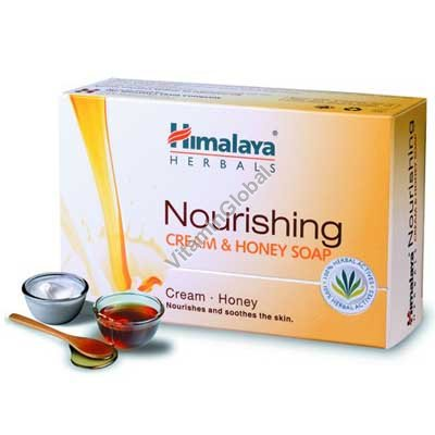 Moisturizing Cream & Honey Soap for normal skin 70g - Himalaya Herbals