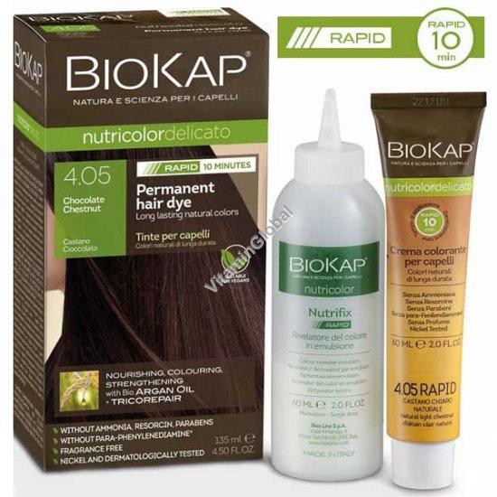 Permanent Hair Color, Chocolate Chestnut 4.05 - BioKap