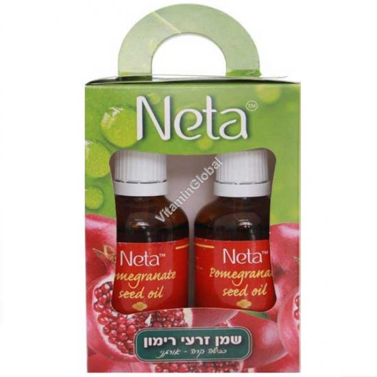 Organic Cold Pressed Pomegranate Seed Oil 100ml (50 ml + 50 ml) - Neta