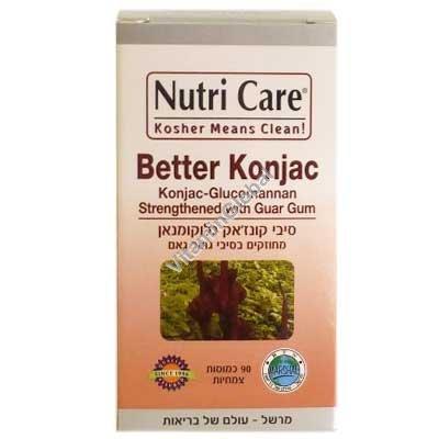 Better Konjac - Konjac Glucomannan with Guar Gum Fibers 90 vegetal capsules - Nutri Care