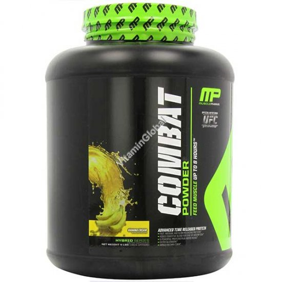 Combat Protein Powder Banana Cream 1814 g (4 LBS) - Muscle Pharm