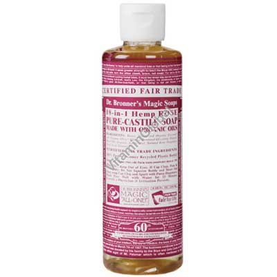 Rose Liquid Soap 472ml (16 oz.) - Dr. Bronner