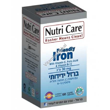 Kosher Badatz Friendly Iron 60 capsules - Nutri Care